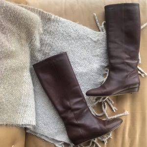 Loeffler Randall brown leather boots size 7